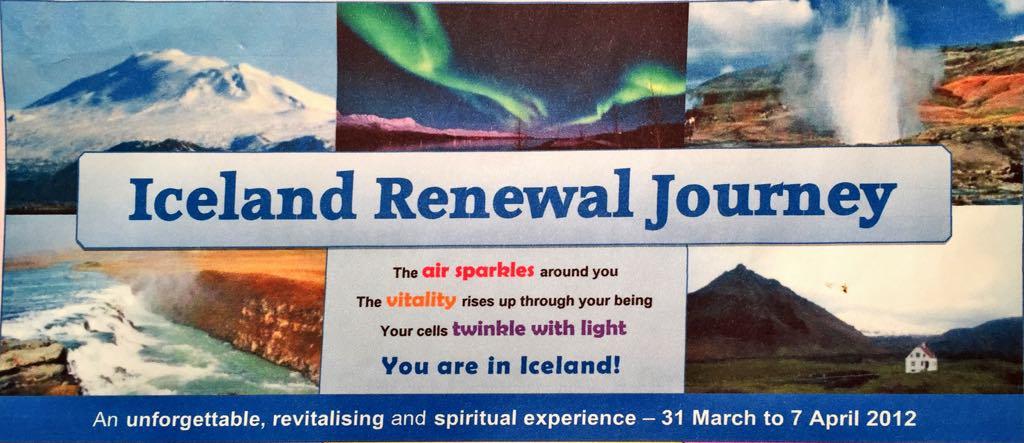 Iceland Renewal Journey – Dagskrá með Ann Phillis